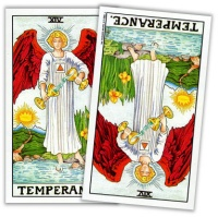 Two Tarot Cards With Reversed and Upright Meanings
